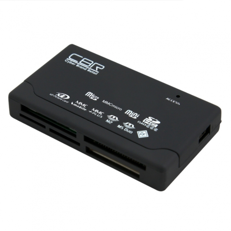 Картридер CBR CR-455, All-in-one, USB 2.0, ноутбук, софттач