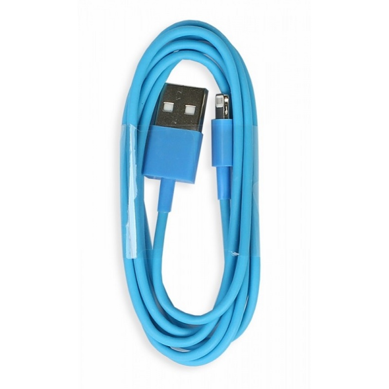 Кабель Smartbuy USB-8-pin для Apple, голубой, цветные, длина 1,2 м, (iK-512c blue)